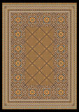 Luxurious ornament in light brown shades for classic carpet Royalty Free Stock Photo