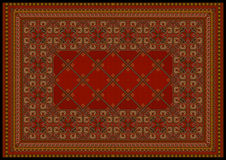 Luxurious ornament in red shades for classic carpet Royalty Free Stock Photography