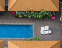 Luxurious outdoor swimming pool royalty free stock photography