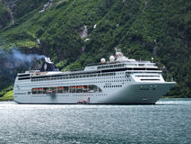 Luxurious passenger ship. Expensive holiday - cruise passenger ship Royalty Free Stock Photos
