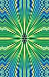 Luxurious pattern of colored strips diverge from the middle to the edges. Abstract luxury, texture, background. Illustration and decoration. Green, yellow and Stock Photo
