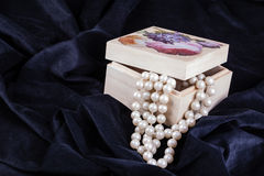Luxurious pearls Stock Photos