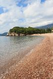 Luxurious pebble beach in the summer, Montenegro Stock Images