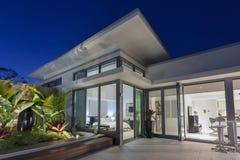 Luxury penthouse at dusk royalty free stock photo