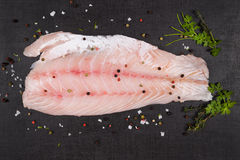 Luxurious perch fillet. Royalty Free Stock Image