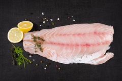 Luxurious perch fillet. Royalty Free Stock Photography