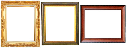 Luxurious picture frames Stock Images