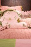 Luxurious pink children's bedding Royalty Free Stock Photos