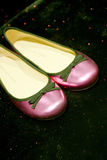 Luxurious pink shoes Stock Photos