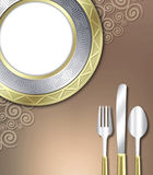 Luxurious place setting Royalty Free Stock Photography