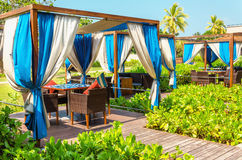 Luxurious place to relax hotel on exotic Sri Lanka Royalty Free Stock Photos
