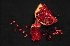 Luxurious pomegranate background. Royalty Free Stock Images