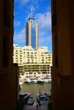 Luxurious Portomaso Marina in Malta. SAINT JULIAN' S , MALTA, EUROPE - NOVEMBER 8, 2014. Luxurious Portomaso Marina ,Malta's most exclusive residential, leisure Royalty Free Stock Photos