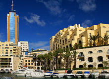 Luxurious Portomaso Marina in Malta. SAINT JULIAN' S , MALTA, EUROPE - NOVEMBER 8, 2014. Luxurious Portomaso Marina ,Malta's most exclusive residential, leisure Stock Image