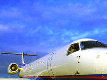 Luxurious private plane Royalty Free Stock Photography