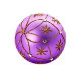 Luxurious purple christmas ball Stock Photography