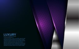 Luxurious purple and silver overlap layer background vector illustration