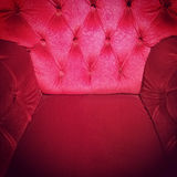 Luxurious red armchair Royalty Free Stock Images
