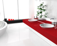 Luxurious Red Bathroom Stock Images