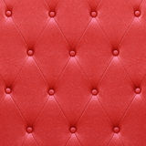 Luxurious red leather  seat upholstery Royalty Free Stock Photography