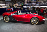 Luxurious red sports car Royalty Free Stock Image