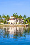 Luxurious residence at the waterfront in South Miami Stock Photography