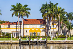 Luxurious residence at the waterfront in South Miami Stock Images