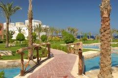 Luxurious resort hotel Stock Photo