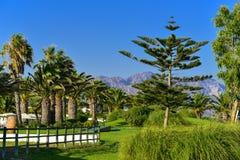 Luxurious resort hotel garden Royalty Free Stock Photos