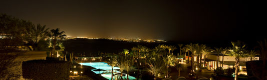 Luxurious resort night scene Royalty Free Stock Image