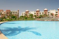 Luxurious resort swimming pool Stock Images