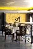 Luxurious restaurant interior. Luxurious italian restaurant interior w Royalty Free Stock Images