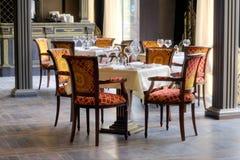 Luxurious restaurant interior. Luxurious italian restaurant interior w ith accessories Royalty Free Stock Photography