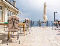 Luxurious restaurant terrace Royalty Free Stock Photo