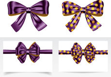 Ribbons with bows Royalty Free Stock Photos