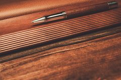 Luxurious rollerball pen Royalty Free Stock Photography