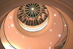 Luxurious roof. Modern and luxurious mall interior Royalty Free Stock Images