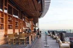 Luxurious rooftop bar stock image