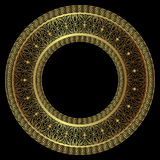 Luxurious round gold frame Royalty Free Stock Images