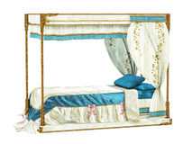 Luxurious royal bed Royalty Free Stock Photography