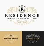 Luxurious Royal Logo Vector Re-sizable Design Template Stock Images