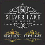 Luxurious Royal Logo Vector Royalty Free Stock Image