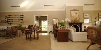 Luxurious safari lodge. Interior details of luxurious modern South African safari lodge stock photography
