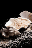 Luxurious sea salt background. Royalty Free Stock Photo