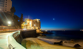 Luxurious seaside hotel Royalty Free Stock Photography
