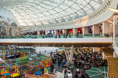 Luxurious Shopping Mall Interior Stock Images