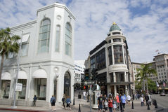 Luxurious shops on Rodeo drive, Los Angeles - California Royalty Free Stock Images