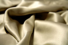 Luxurious silk material. Close up of rumpled luxurious silk material Royalty Free Stock Photos