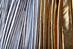 Luxurious silver and gold fabric Royalty Free Stock Photo