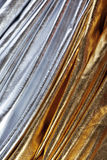 Luxurious silver and gold fabric Stock Images